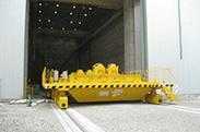 被放射線検査室 大型搬送台車