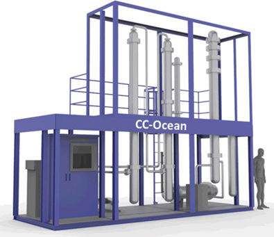 Conceptual drawing of the CO<sub>2</sub> recovery demo plant